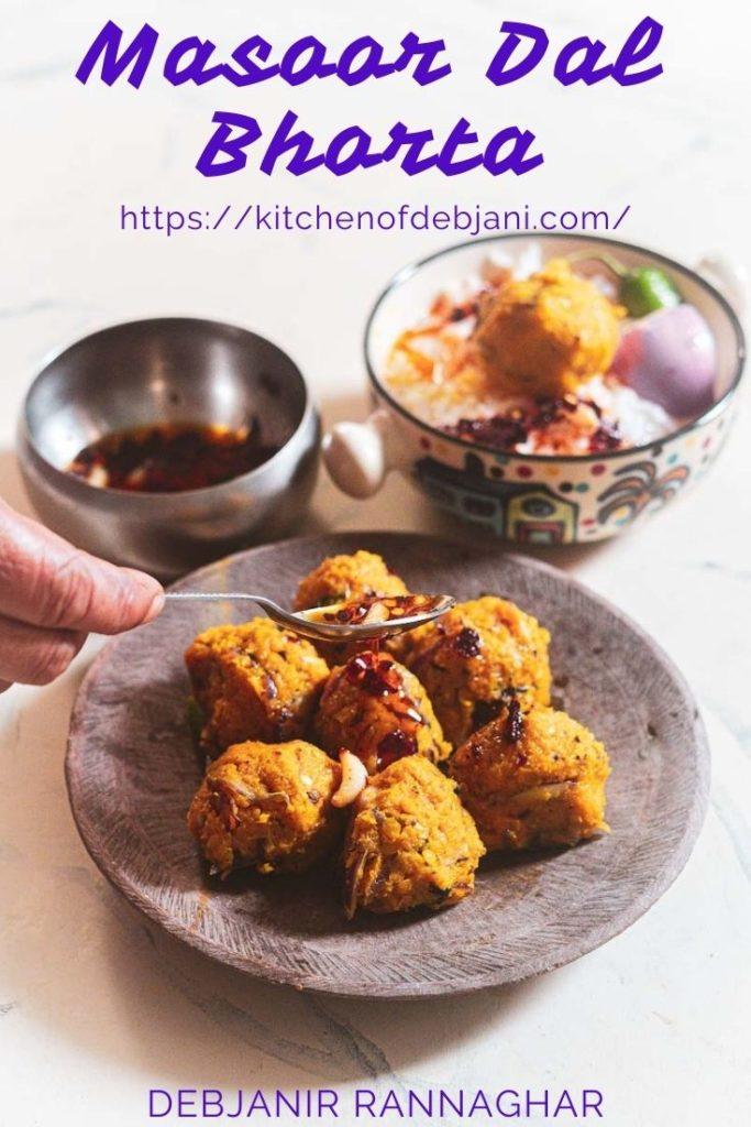 %Masoor Dal Bhorta Recipe Debjanir Rannaghar Pinterest