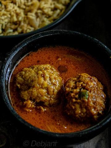 %pork meatball curry recipe debjanir rannaghar